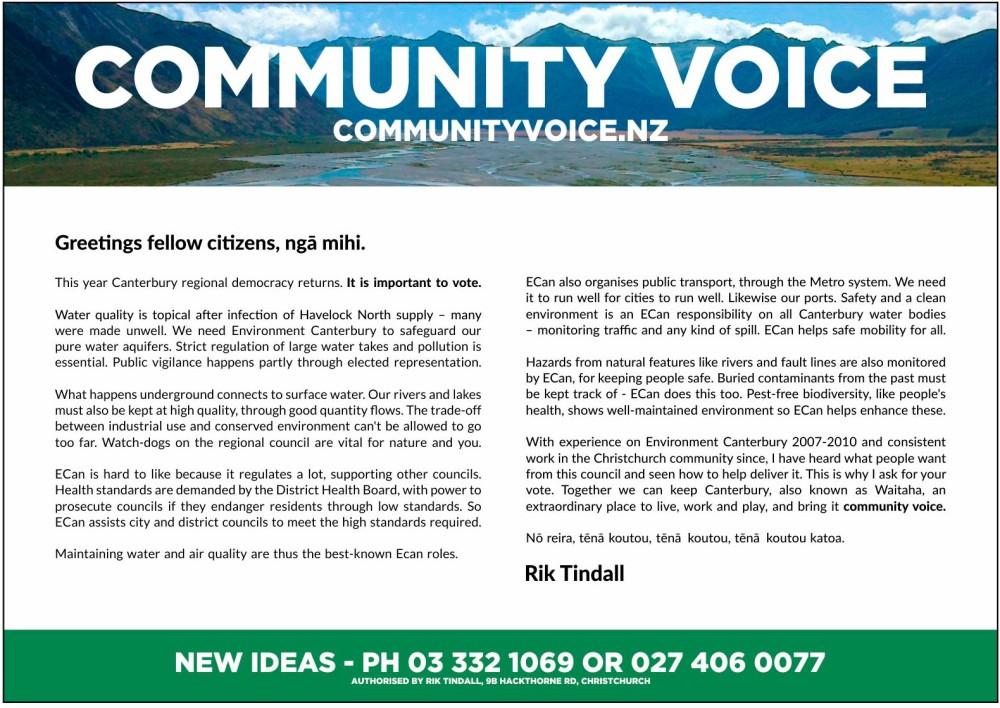 J024123 - Rik Tindall A5 Election Leaflets 2016